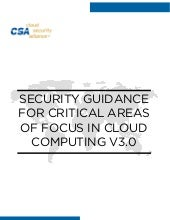 Cloud Security Alliance Guide to Cloud Security