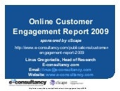 cScape Customer Engagement Report 2009