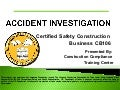 Accident Investigation Training by Construction Compliance Training Center