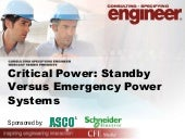 Critical Power: Standby versus emer...