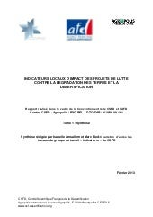 CSFD, 2013. Indicateurs locaux d'im...