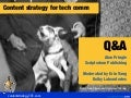 Q&A: Content strategy for tech comm