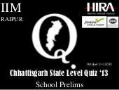 Chhattisgarh State Level Quiz - 201...