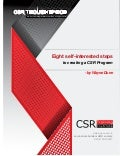 CSR in Eight Self-Serving Steps