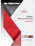 CSR Skills: What you need and why