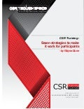 Csr training:  Seven strategies to make it work for participants