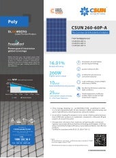 CSUN Tier 1 Solar Modules Datasheet