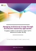 Managing institutional change through distributive leadership approaches: Engaging academics and teaching staff in blended and flexible learning