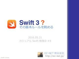 Swift 3 その基本ルールを眺める #cswift