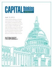 Capital Thinking ~ April 15, 2013