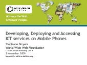 Developing, Deploying and Accessing...