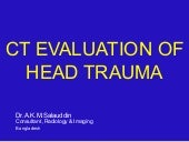 Head Trauma Ct Evaluation