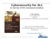 CTO Cybersecurity Forum 2013 Jean J...