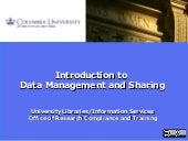 Introduction to Data Management and...