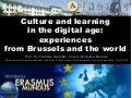 Culture and learning in the digital age:  experiences from Brussels and the world