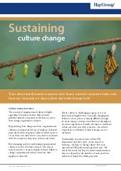 Sustaining culture change