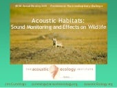 Acoustic Monitoring: Assoc for Env ...