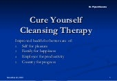 Cure Yourself Through Cleansing