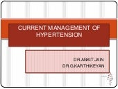 Current management of hypertension new