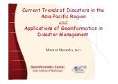 Current trends of disasters in the ...
