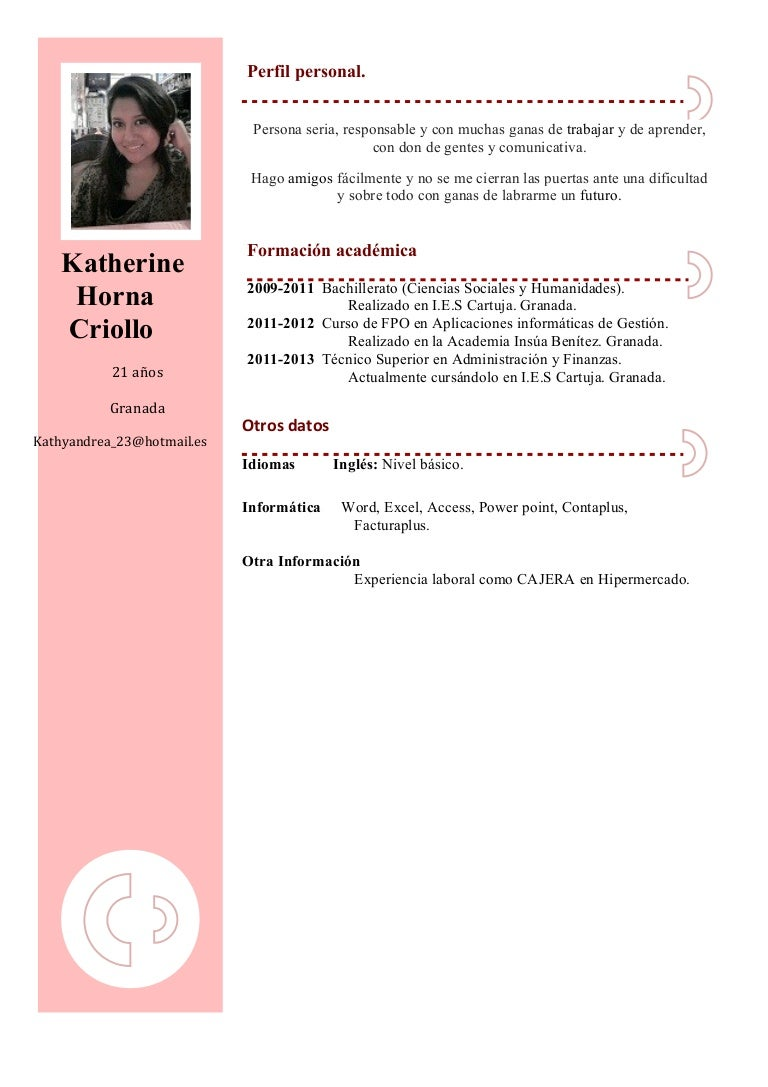 Modelos De Curriculum Vitae 16 Anos Modelo De Curriculum Vitae