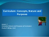 Notes on curriculum concepts nature...