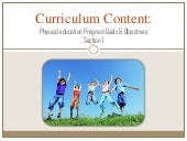 Curriculum content (section one)