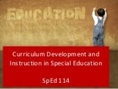 Curriculum development in special e...