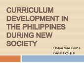 Curriculum development in the phili...