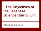 Lebanese Science Curriculum object...