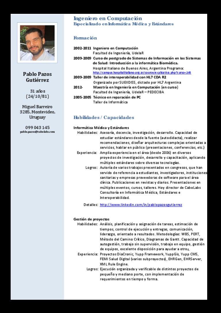 Modelo De Curriculum Vitae Linkedin - Modelo De Curriculum Vitae