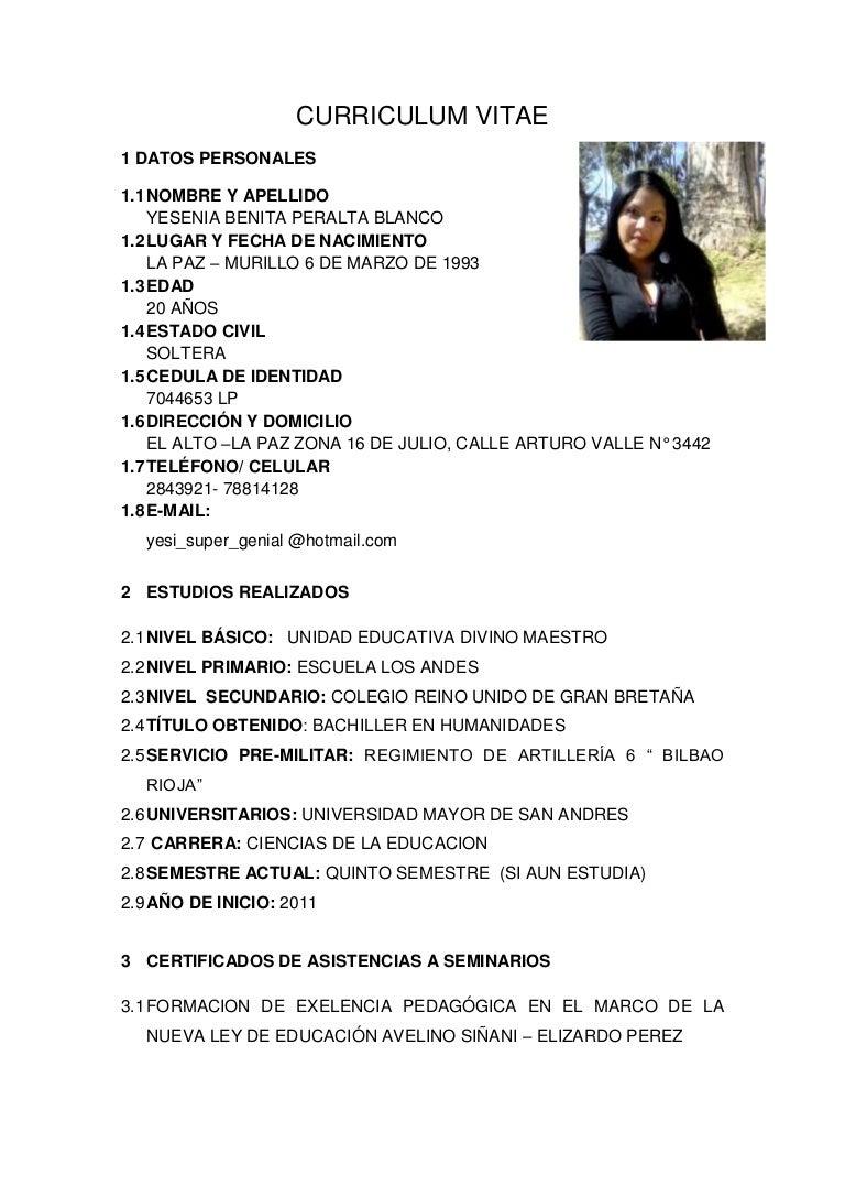 Modelo De Curriculum Vitae Objetivos - Modelo De Curriculum Vitae