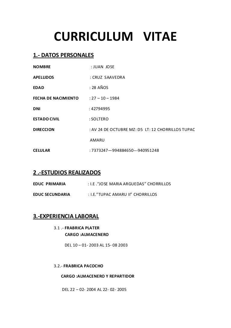 Lujo Ejemplo De Curriculum Vitae De Estudiante De Lpn Componente ...