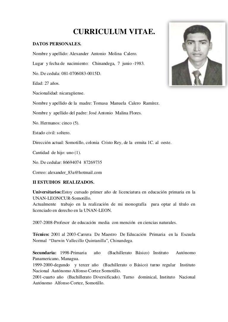 Hermosa Formato De Currículum De Trabajo De Secundaria Foto ...