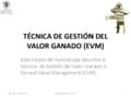 Curso project management 09-gestion del valor ganado