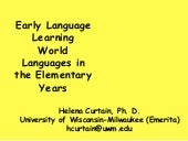 Early Language Learning: World Lang...