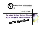 Carlsbad Unified Annual Rept 2009