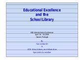 Educational excellence and the scho...