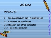 Fundamentos del estudio del Curriculum