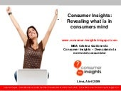Consumer Insights - Revealing what ...