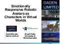 Emotionally Responsive Robotic Avatars in Virtual Worlds