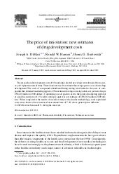 The Price Of Innovation New Drug De...