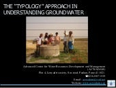 Typology Approach in Groundwater - ...