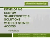Custom SharePoint 2010 solutions wi...