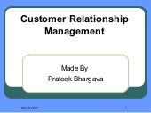 Customer Relationship Management !!...