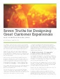 Customer experience design truths