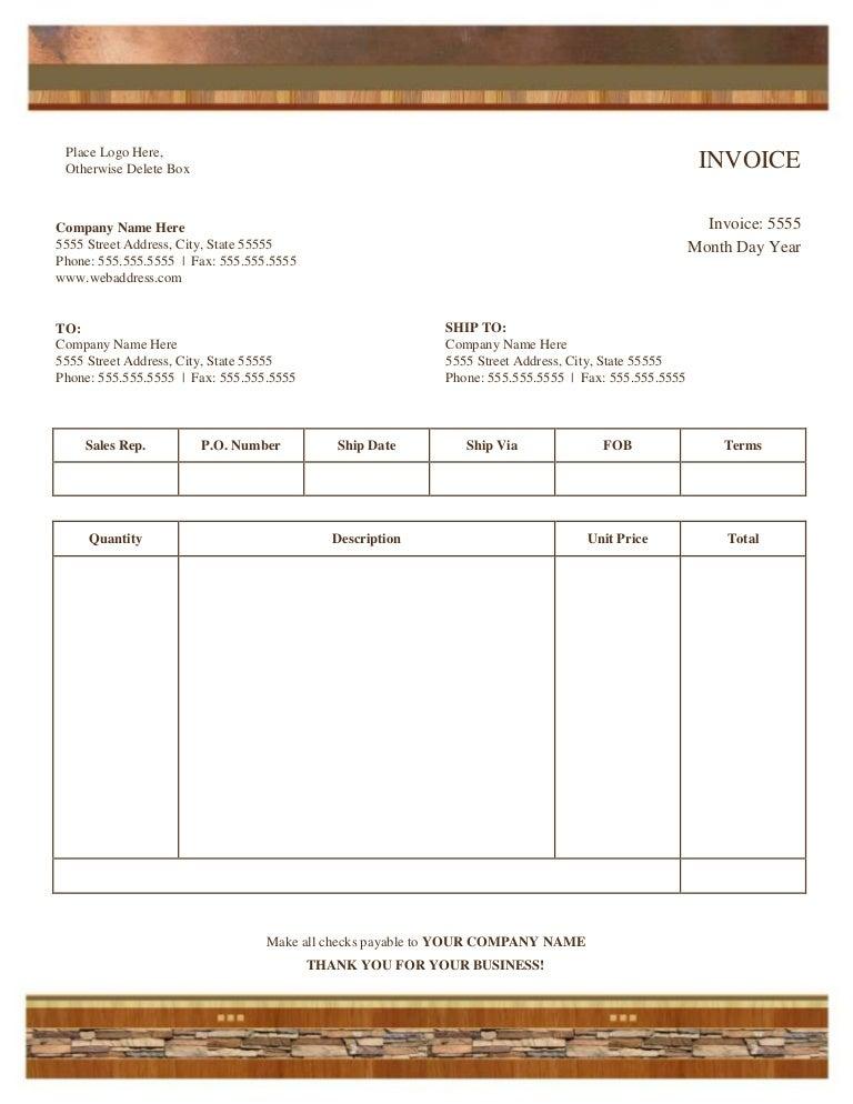 Doc.#7941125: Copy Of Invoice Template – Copy Invoice Template