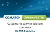 Customer loyalty in telecom operato...