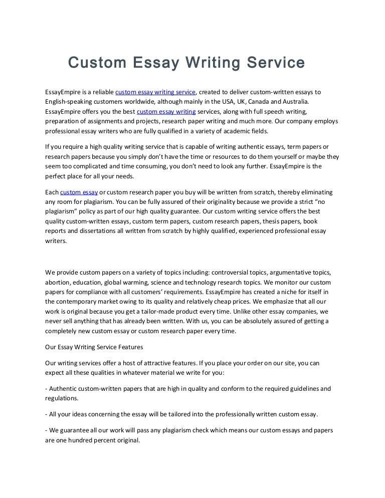 Dri custom essay