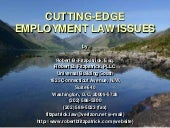 Cutting Edge Employment Law Issues